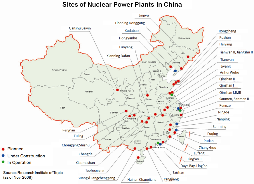 of nuclear power plants in